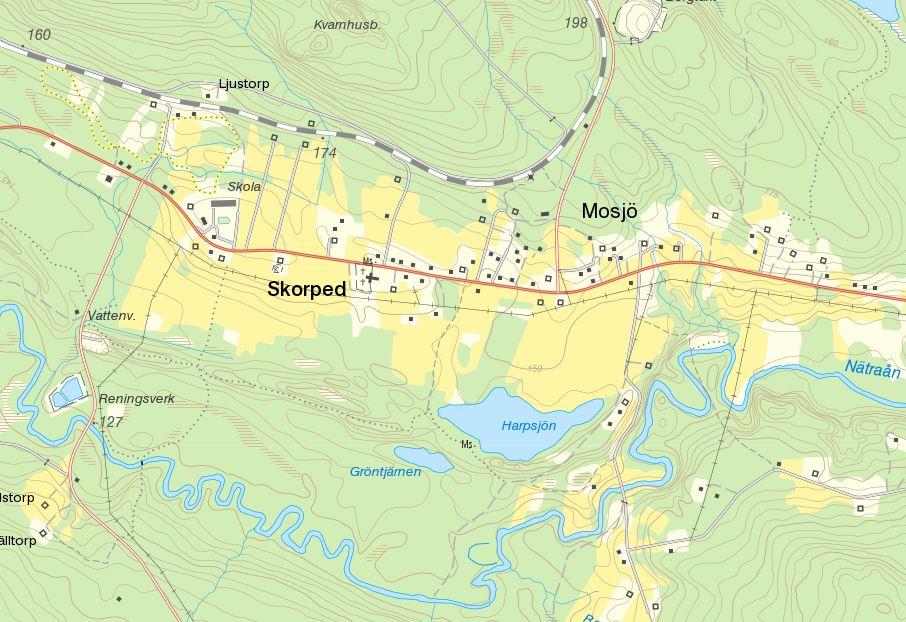 Map Skorped Mosjö